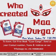 This is a big Question that who created Durga Devi ? This answer can find in this book Gyan Ganga. Navratri Wishes Image, Happy Navratri Wishes, Happy Navratri Images, Chaitra Navratri, Navratri Festival, Navratri Special, Durga Ji, Durga Goddess, Kolkata