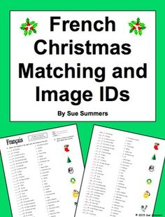 French Christmas Flashcards and PowerPoint Presentation 66 Slides ...