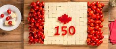 1 with awesome appetizers, sides, main dishes and delicious desserts, including our fan-favourite Canada Day Flag Cake. Easy To Make Appetizers, Best Appetizers, Canada Day Flag, Canada 150, Canada Birthday, Leaf Cutout, Canada Holiday, Butter Tarts, Cheese Cubes