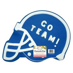 Football helmet cake made with Pantastic Pan. Can be personalized with your own team!