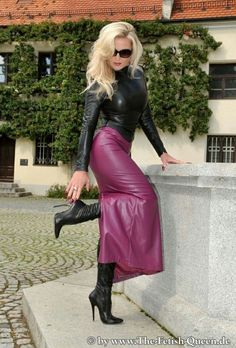 Crazy Outfits, Sexy Outfits, Pretty Outfits, Talons Sexy, Leder Outfits, Leather Dresses, Leather Skirts, Sexy Skirt, Models