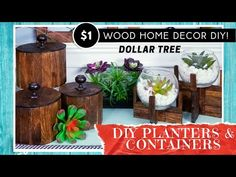 Dollar Tree Decor, Dollar Tree Crafts, Diy Plant Stand, Plant Stands, Diy Home Crafts, Craft Stick Crafts, Diy Crafts Lanterns, Jenga Diy, Block Craft