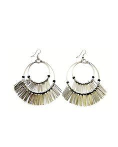 The Silver Fringe Hoop Earrings by JewelMint.com, $25.00