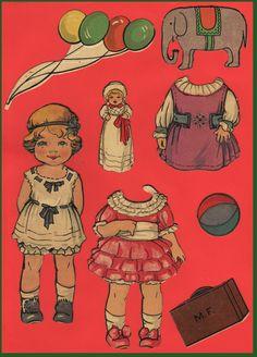 Ingrids Påklædningsdukker: Diverse dejlige dukker