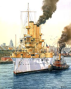 U.S. Armored Cruisers of the Spanish-American War: USS New York and Brooklyn