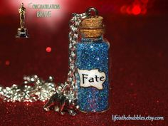 BRAVE Magical FATE Necklace with a Bear Charm by LifeistheBubbles, $16.00