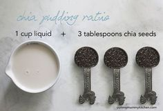 Chia pudding ratio. #vegan #dessert