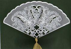 Flower lace hand fan