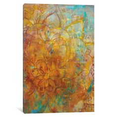 """Bungalow Rose Bohemian Abstract Bright I Painting Print on Wrapped Canvas Size: 18"""" H x 12"""" W x 1.5"""" D"""