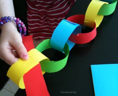 Paper Chains | AllFreeKidsCrafts.com