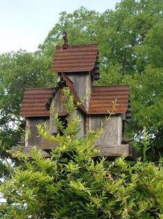 Tin Roof Rusted Art Print by Elizabeth Sullivan Rustic birdhouse. Bird Houses Diy, Fairy Houses, Bird House Feeder, Rustic Bird Feeders, Bird House Kits, Bird Aviary, Rustic Gardens, Kit Homes, Metal Roof