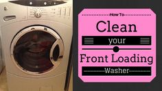 Does your front loading washer stink? See how easy it is cleaning your front loading washer in 6 easy steps!