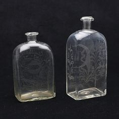 Antique Glassware, Crystal Collection, Drinking Glass, Apothecary, Three Dimensional, Utensils, Flask, 19th Century, Bowls