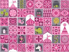 pink knight quilt design! yay!