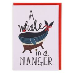 Whale in a Manger Christmas Card ($4):