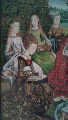 La Vierge parmi les vierges, par le maître de la Légende de sainte Lucie Détail