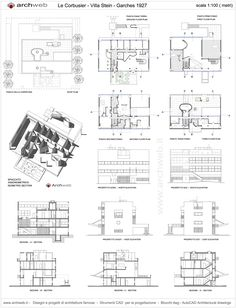Stein House a Garches dwg drawings