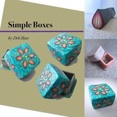 I have a new tutorial available on my website and ETSY. People have been asking for a complete start to finish simple box class. I've been teaching this as a demo for guilds within 8 hrs of Dallas and had a handout with the various techniques but decided it was time to put it into something more finished. It has a simple petal cane, simple box form, faux turquoise, and finishing instructions. Get more information here: https://www.etsy.com/listing/490730768/tutorial-simple-boxes #debhart...