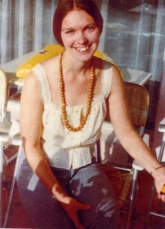 "A picture of Karen Zerby (""Mama Maria""), current leader of The Children of God/The Family/The Family International, taken in 1970. Karen ""Maria"" Zerby believes she was one of Jesus' favourite lovers in a pre-existence, and that she was sent to Earth so the World (and especially the Family) could ""partake in her beauty and purity"". Ok-ayyy, then..."