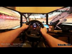 Man Cave Video Game Racing Setup This a really cool perspective of Sitting in a cockpit playing Dirt2