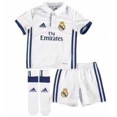 Real Madrid adidas Toddler Home Mini Kit – White – Shirt Types Toddler Soccer, Youth Soccer, Kids Soccer, Real Madrid Uniform, Real Madrid Shirt, Kids Football Shirts, Football Outfits, Premier League, Adidas Real Madrid