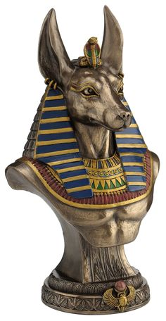 Anubis Bust on Plinth