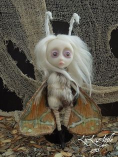 Doshie Moth winged Creature Art Doll OOAK by LuLusApple on Etsy