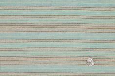 Aqua/Natural Stripes Woven