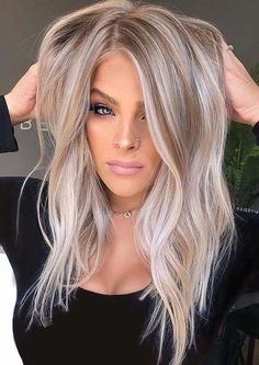 Balayage Hair Color Ideas And Colors For Women 2019 . Balayage Hair Color Ideas And Colors For Women 2019 . Beautiful Smokey Blonde Hair Color Ideas for Girls in 2019 Blonde Hair Looks, Blonde Wig, Blonde Brunette, Ice Blonde Hair, Hair Color Balayage, Ombre Hair, Blonde Balayage, Hair Colour, Hair Dye