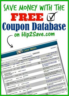An extensive coupon database from Hip2Save.com. Discover great deals and coupons with this wonderful and free tool!