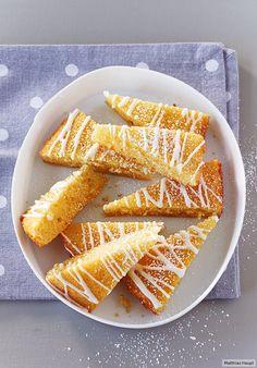 Die simplen Sachen sind die besten. Der Beweis: Vanillerührteig mit Zitronenguss.
