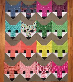 Such a blessing to spend some time sewing today, as I was able to finish the blocks. 🐺💕 Only the bunnies to go, then I can start assembling the top. Quilting Projects, Quilting Designs, Sewing Projects, Quilting Ideas, Quilt Block Patterns, Quilt Blocks, Elizabeth Hartman Quilts, Fox Quilt, Elephant Quilt