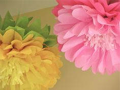 Wonderland in Bloom 5 Giant Hanging Paper Flowers by whimsypie, $32.50