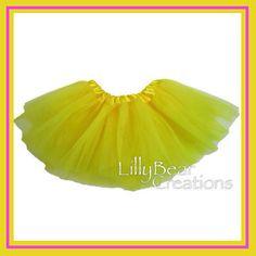 Yellow Tutu Baby Tutu Easter Tutu Birthday by LillyBearCreations