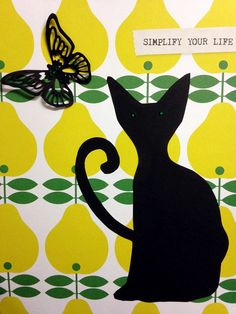 Simplify your life - artwork by Rita Dabrowicz using stock paper from Flow Magazine