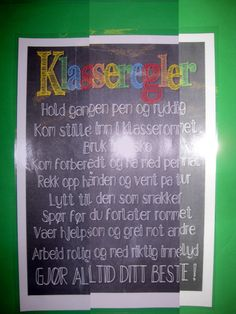 PYP Norsk Uke 2: Vi har laget klasseregler sammen og starter neste uke med innføring av disse, samt et opplegg for oppførsel og arbeidsinnsats. Mange ansvarsfulle elever er det vi vil ha:) Følg med :)
