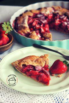 Tarta rustykalna z truskawkami (bez glutenu) - Paleo Strefa Moniki Piaseckiej