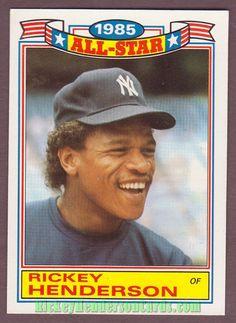 #topps @topps 1986 Topps Glossy All-Star #7 RICKEY HENDERSON