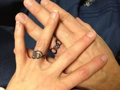 Infinity\wedding ring tattoos