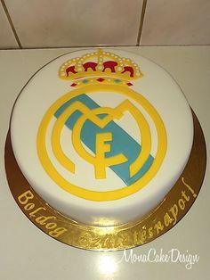 Real Madrid logo Cake Real Madrid Cake, Real Madrid Logo, Cool Birthday Cakes, Birthday Parties, Sport Cakes, Cake Logo, Sports Birthday, Cakes For Boys, Celebration Cakes