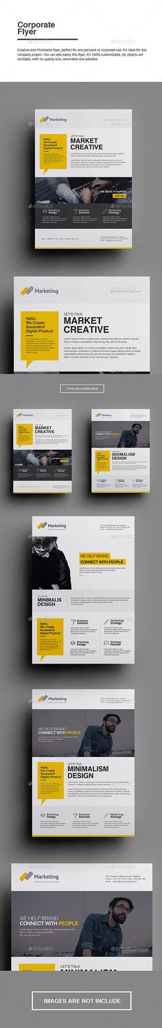 Buy Corporate Flyer by punkl on GraphicRiver. Corporate Flyer Creative and Minimalist flyer, perfect for any personal or corporate use. It's ideal for any company . Design Food, Graphisches Design, Email Design, Page Design, Flyer Design, Book Design, Layout Design, Creative Design, Print Design
