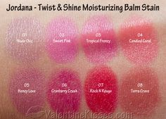 Jordana twist and shine moisturizing balm stain candied coral