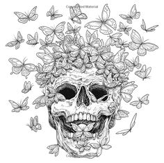 Hottest New Coloring Books: March 2018 Roundup Fantomorphia: An Extreme Coloring and Search Challenge by Kerby Rosanes Skull Coloring Pages, Abstract Coloring Pages, Fairy Coloring Pages, Printable Adult Coloring Pages, Cool Coloring Pages, Coloring Pages To Print, Coloring Books, Mandala Coloring, Coloring Sheets