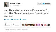 Ann Coulter is a vile woman. How do people take her seriously.