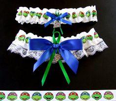 Teenage Mutant Ninja Turtle TMNT Garter Set by PikesPeakCreations