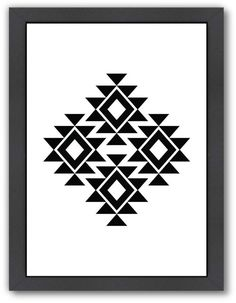 Frames On Wall, Framed Wall Art, Framed Prints, Art Prints, Motifs Aztèques, Native American Patterns, Native American Design, Barn Quilts, Painting Edges
