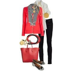 A fashion look from December 2012 featuring Tory Burch cardigans, J.Crew blouses and Nudie Jeans Co. jeans. Browse and shop related looks.
