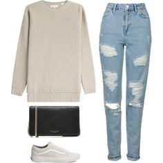 Sin título #582 by itgirlcarlota on Polyvore featuring Chinti and Parker, Topshop, Vans and Marc Jacobs