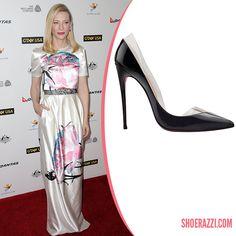 Cate Blanchett in Christian Louboutin Spring 2014 Miss Rigidaine d'Orsay Pumps - ShoeRazzi