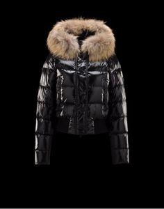 Womens Moncler Alpin Detachable Fur Trimmed Collar Black Womens Jackets  Nylon Polyamid 6d958e2ab4f